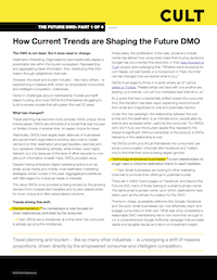 Image of the front page of the Future DMO Pt. 1 report.